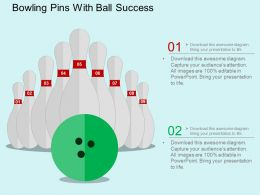 Eb Bowling Pins With Ball Success Flat Powerpoint Design