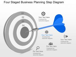 eb Four Staged Business Planning Step Diagram Powerpoint Template