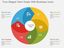 eb Four Staged Venn Graph With Business Icons Flat Powerpoint Design