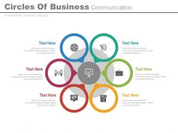 eb Six Circles Of Business Communication Flat Powerpoint Design
