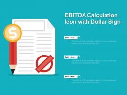 EBITDA Calculation Icon With Dollar Sign