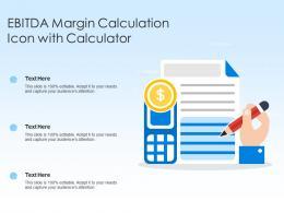EBITDA Margin Calculation Icon With Calculator