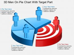 ec 3d Men On Pie Chart With Target Part Powerpoint Template