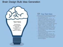 Ec Brain Design Bulb Idea Generation Flat Powerpoint Design