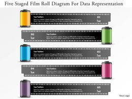 Ec Five Staged Film Roll Diagram For Data Representation Powerpoint Template