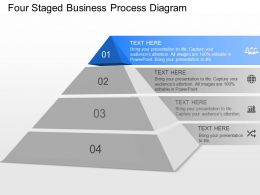 ec Four Staged Business Process Diagram Powerpoint Template