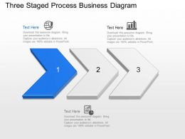 Ec Three Staged Process Business Diagram Powerpoint Template Slide