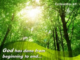 Ecclesiastes 3 11 God Has Done From Beginning Powerpoint Church Sermon