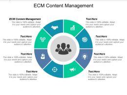 Ecm Content Management Ppt Powerpoint Presentation Icon Templates Cpb