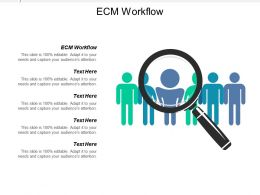 Ecm Workflow Ppt Powerpoint Presentation Icon Clipart Images Cpb