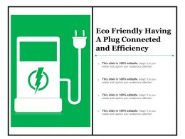 Eco Friendly Having A Plug Connected And Efficiency