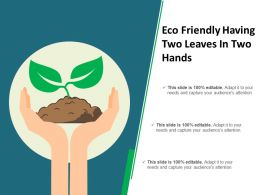 Eco Friendly Having Two Leaves In Two Hands