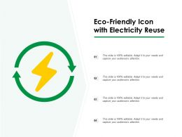 Eco Friendly Icon With Electricity Reuse