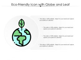 Eco Friendly Icon With Globe And Leaf