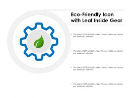 Eco Friendly Icon With Leaf Inside Gear