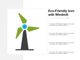 Eco Friendly Icon With Windmill