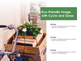Eco Friendly Image With Cycle And Grass