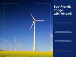 Eco Friendly Image With Windmill