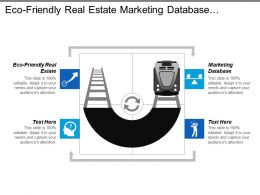 Eco Friendly Real Estate Marketing Database Customer Driven Change Cpb