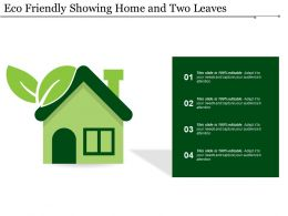 Eco Friendly Showing Home And Two Leaves