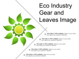 Eco Industry Gear And Leaves Image