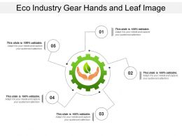 Eco Industry Gear Hands And Leaf Image