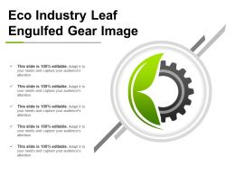Eco Industry Leaf Engulfed Gear Image