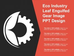 Eco Industry Leaf Engulfed Gear Image Ppt Design