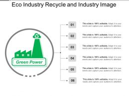 Eco Industry Recycle And Industry Image