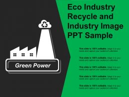 Eco Industry Recycle And Industry Image Ppt Sample