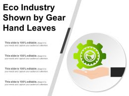 Eco Industry Shown By Gear Hand Leaves