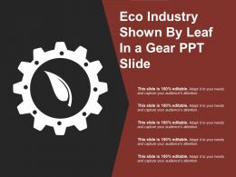Eco Industry Shown By Leaf In A Gear Ppt Slide