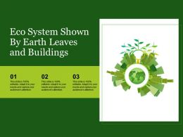 Eco System Shown By Earth Leaves And Buildings