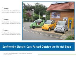 Ecofriendly Electric Cars Parked Outside The Rental Shop