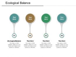 Ecological Balance Ppt Powerpoint Presentation Pictures Information Cpb
