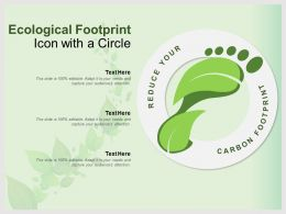 Ecological Footprint Icon With A Circle