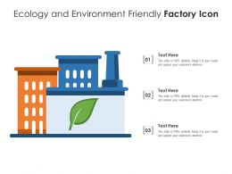 Ecology And Environment Friendly Factory Icon