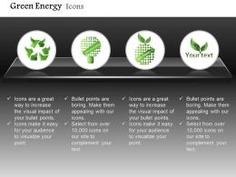Ecology And Green Energy With Eco Friendly Text Editable Icons