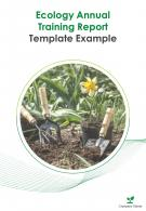 Ecology Annual Training Report Template Example PDF DOC PPT Document Report Template