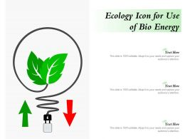 Ecology Icon For Use Of Bio Energy