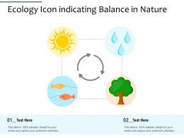 Ecology Icon Indicating Balance In Nature