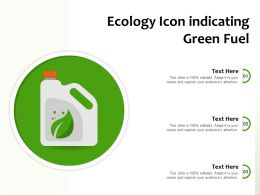 Ecology Icon Indicating Green Fuel