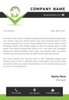 Ecology Letterhead Design Template