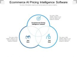 Ecommerce AI Pricing Intelligence Software Ppt Powerpoint Presentation Outline Diagrams Cpb