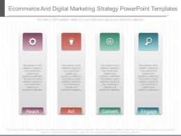 Ecommerce And Digital Marketing Strategy Powerpoint Templates