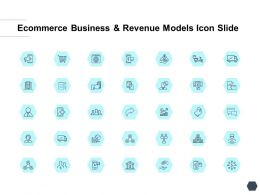 Ecommerce Business And Revenue Models Icon Slide Strategy I372 Ppt Slides