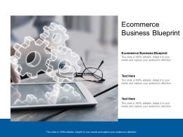 Ecommerce Business Blueprint Ppt Powerpoint Presentation Model Templates Cpb