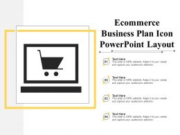 Ecommerce Business Plan Icon Powerpoint Layout