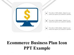 Ecommerce Business Plan Icon Ppt Example