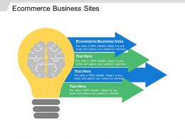 Ecommerce Business Sites Ppt Powerpoint Presentation Icon Influencers Cpb